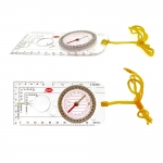 Kompassi viivaimella ja suurennuslasilla, suunistusviivain, 6x13cm, CYA, KL1228