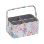 Fabric Covered open Sewing Basket 23x16x11,5cm, HobbyGift MRCOS 440