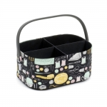 Fabric Covered open Sewing Basket 30x15x21cm, HobbyGift HGMCO 471