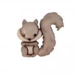 Orav, kannaga plastiknööp, 25x23mm/40L