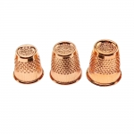 Notched thimble, gold rose, Hemline 300.RG.DB