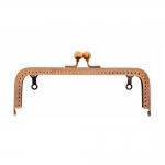 Metal interchangeable bag frame, bag fastening 18 cm x 9 cm kotiraud, Hemline 4515.RG