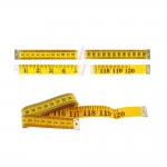 "Extra long tape measure cm/inch scale, 2 m, 120"", Hemline 256"