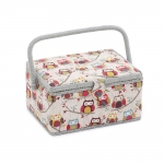 Fabric Covered Sewing Basket, Hoot, Hobby Gift MRM\195