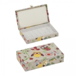 Emty case for 30 sewing machine bobbins: Owl, (d/w/h): 20 x 12 x 4.5cm, Hobby Gift MRBH\29