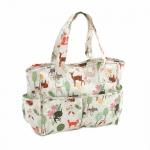 Craft bag, handbag: Woodland (Matt PVC), (d/w/h): 12.5 x 39 x 35cm, Hobby Gift MRB\285