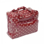 Sewing Machine Carry Bag, XL size, Red Spot (PVC), (d/w/h): 20 x 43 x 37cm, Hobby Gift MRB.003