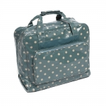Sewing Machine Carry Bag, XL size, Blue Spot (PVC), (d/w/h): 20 x 43 x 37cm, Hobby Gift MRB.004