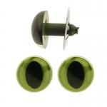 Vihreät muoviset silmät nukkevalmistukseen, kissan silmät, ø15mm, ø18mm