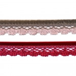 Velvet ribbon with lace T153 / 2,5 cm