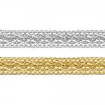 Metallikniidist õrn pits 3037 laiusega 2 cm