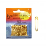 Brass made safety pins; 50pcs, 27mm, Pony 85101