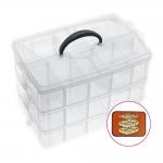 Stackable storage boxes, 3 levels, 25x17,5x18,5cm, KL1264