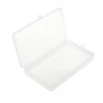 Plastmassist (PP) läbikumav õhuke säilituskarp, lukustatav, 17,5 x 8,8 x 2 cm, KL1292
