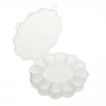 Plastmassist (PP) läbikumav lillekujuline säilituskarp, 13 sektoriga, ø15,5 x 2,5 cm, KL1286