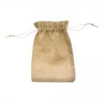Linasest kangast kinkekott, nöörist kinnitõmmatav 12x17cm