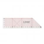 Clear view 45° angle ruler, 5cm × 20cm LeSummit QR-4520