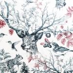 Tugevam dekoratiivkangaskangas prinditud metsamotiividega Thevenon Art.21706