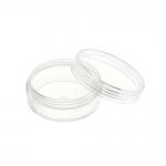 Säylytysrasia, pyöreä, kirkas muovi, kierteella suljettava, ø5x2cm, KL1300