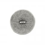 Metallnööp sileda pinnaga, kergelt lopergune ja krobeline 25mm/40L