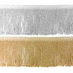 Fringe Trim / Metalic-100 / 10 cm