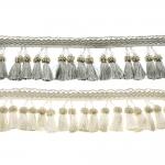 Бахрома с кисточками и стеклярусомl, 10 cm
