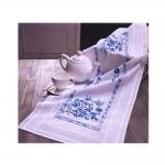 Sini-valge mustriga tikkimiskomplekt-linik seeriast Saar, 40cm x 100cm, Duftin Art.11-326