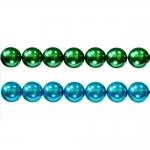 Ümarad pärlmutter klaaspärlid, Jablonex Tšehhi, 10mm