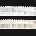 Aida cross stitch band in pure mercerized cotton, 30 mm IDA