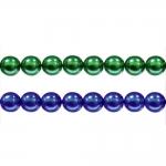 Ümarad pärlmutter klaaspärlid, Jablonex Tšehhi, 8mm
