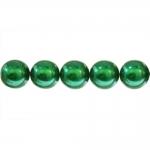 Ümarad pärlmutter klaaspärlid, Jablonex Tšehhi, 14mm