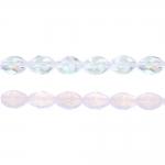 Ovaalne, tahuline klaashelmes, pikuti läbistatud, 11x8mm, Jablonex
