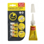 Super Glue Express Lim Tubes 4 pcs x 0,5g, Super Glue Express Gel, Casco, Sika 525669