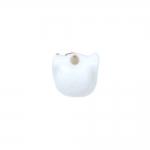 Kiisukujuline, maalitud keraamiline helmes, 14x10mm
