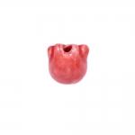 Kiisukujuline, maalitud keraamiline helmes, 17mm