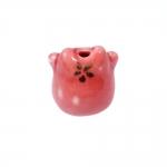 Kiisukujuline, maalitud keraamiline helmes, 20mm
