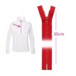 Plastic Zippers, closed end, Koh-I-Noor, 6mm, 30cm