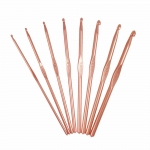 Rose Gold Light metal Crochet Hooks 8 ps set, Milward 2232508