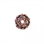 Graveeritud mustriga pärlipidur/riputis/helmes CCB plastikust 12x6mm