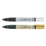 Pentel Permanent Paint Marker, fine bullet point, 2 mm, metallic colors, MMP20
