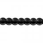 Must läbipaistmatu klaashelmes 11,5x8,8mm, augu läbimõõt 5mm (Preciosa)