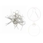 Metal springy hangers, 30 mm, 25 pcs, Habico HCP0056