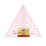 """Clear view triangle ruler, angles 60°, inch gride, 12"""" (30cm × 30cm × 30cm), SewEasy NL4173"""