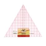 """Läbipaistev kolmnurk-joonlaud tollides, 12"""" tolli, 60°, (30cm × 30cm × 30cm), SewEasy NL4173"""