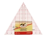 """Clear view triangle ruler, angles 60°, inch gride, 9¼"""" inch, (23,5cm × 23,5cm × 23,5cm), SewEasy NL4174"""