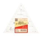 Läpinäkyvä kolmioviivain tuumissa, monimittainen kolmio-sabluuna, 60° kulmat, (17cm × 17cm × 17,5cm), SewEasy NL4169