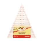 Clear View Triangle Template, Ruler, angle 45°, inch gride, (18cm × 23,5cm × 23,5cm), SewEasy NL4157