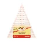 Läbipaistev kolmnurk-joonlaud tollides, 45°, (18cm × 23,5cm × 23,5cm), SewEasy NL4157