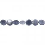 Mündikujuline triibureljeefidega poolläbipaistev vesihall piimjate triipudega 12x4mm klaashelmes (Preciosa)