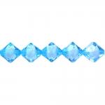 Pärl-pärlis tahulised rombikujulised klaasjad akrüülhelmed 12mm